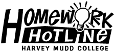 Harvey Mudd College Homework Hotline logo
